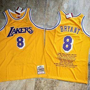 Los Angeles Lakers Kobe Bryant 8 Gold Jersey